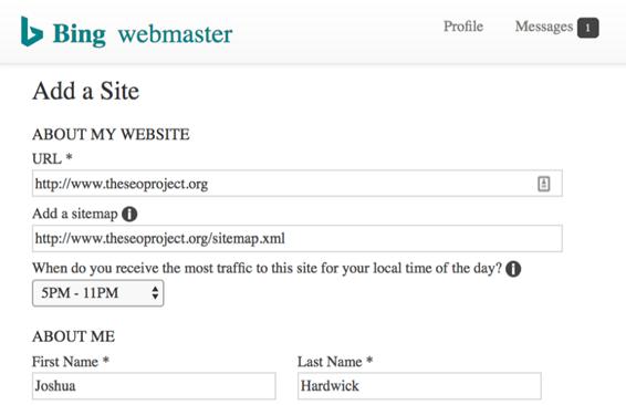 Добавяне на сайт в търсачката Bing