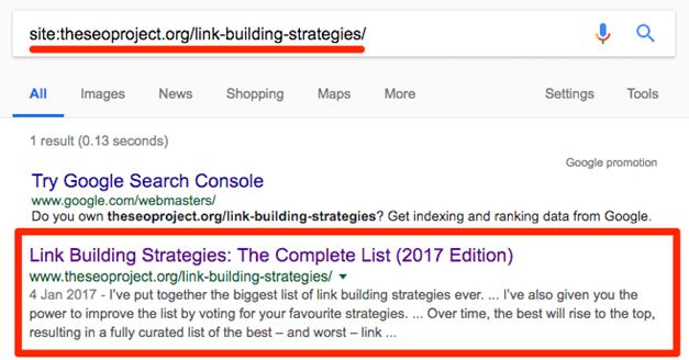 Проверка за индексация на страница в Google